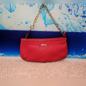 Red Burberry LTD Horseferry House Clutch Purse